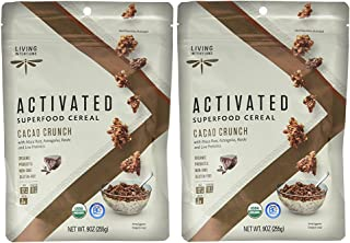 product image for Living Intentions Superfood Cereal, Cacao Crunch, with Probiotics, 9 Ounce Pack of 2