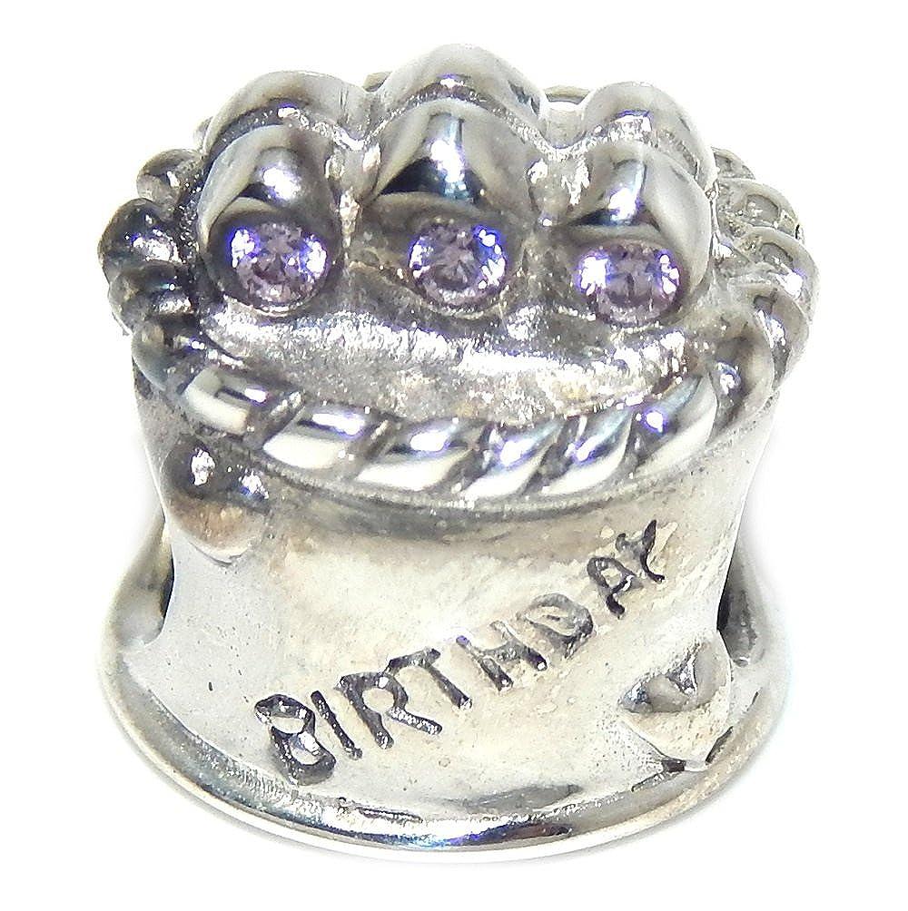 Pro joyería 925 sólido Plata de Ley Tarta de cumpleaños con ...