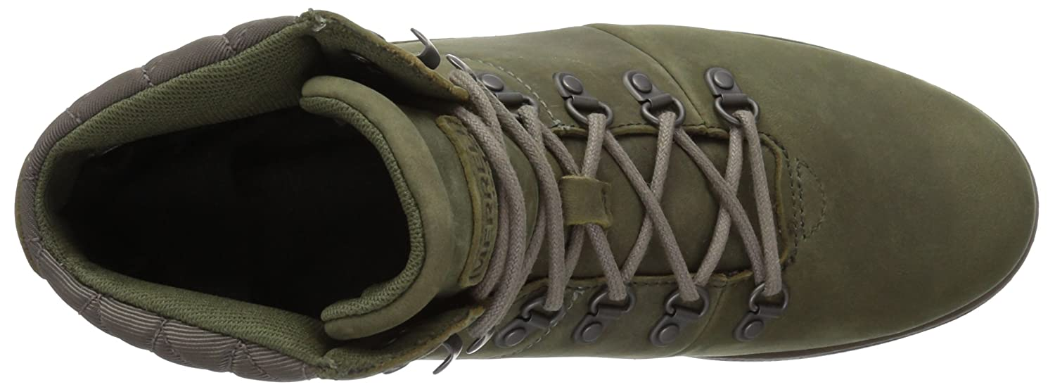 Merrell Women's Chateau Mid Lace Waterproof Snow Boot B01NGYEC4H 6 B(M) US|Dusty Olive