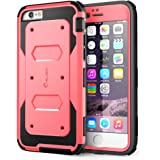 iPhone 6 Case, **Super Heavy Duty** i-Blason Apple iPhone 6 Case 4.7 inch [Slim Fit] Armorbox Series (Dual Layer) Hybrid [Full-body Protective] Case with Front Cover and Built-in Screen Protector / Impact Resistant Bumpers for iPhone 6 (Pink)