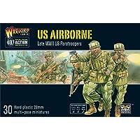Bolt Action US Airborne Paratroopers 1:56 WWII Militar Wargaming Cifras de plástico Modelo Kit
