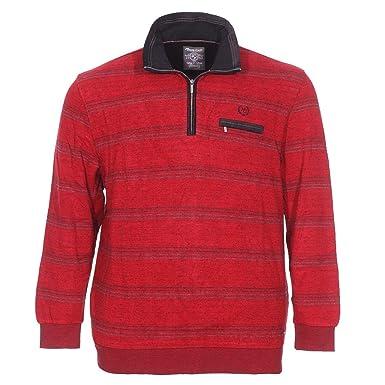 26fc74e1df89 Monte Carlo Soldes Pulls et Sweats Grande Taille Rouge Coton  Amazon.fr   Vêtements et accessoires
