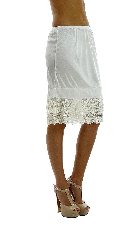 Double Lace Half Slip Satin Skirt Extender 21 Length