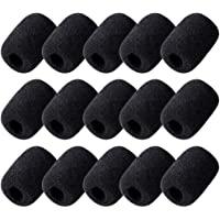 Wode Shop 15 Pack Foam Microphone Windscreen, Lapel Headset Microphone Sponge Mini Foam Cover Shield Protection for…