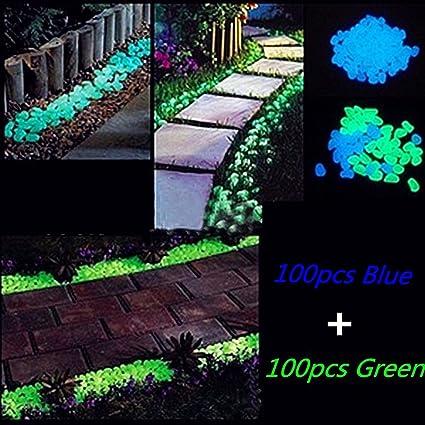 Glow In The Dark Pebbles, Garden Decorative Stones For Walkways Flower Beds  And Fish Tank