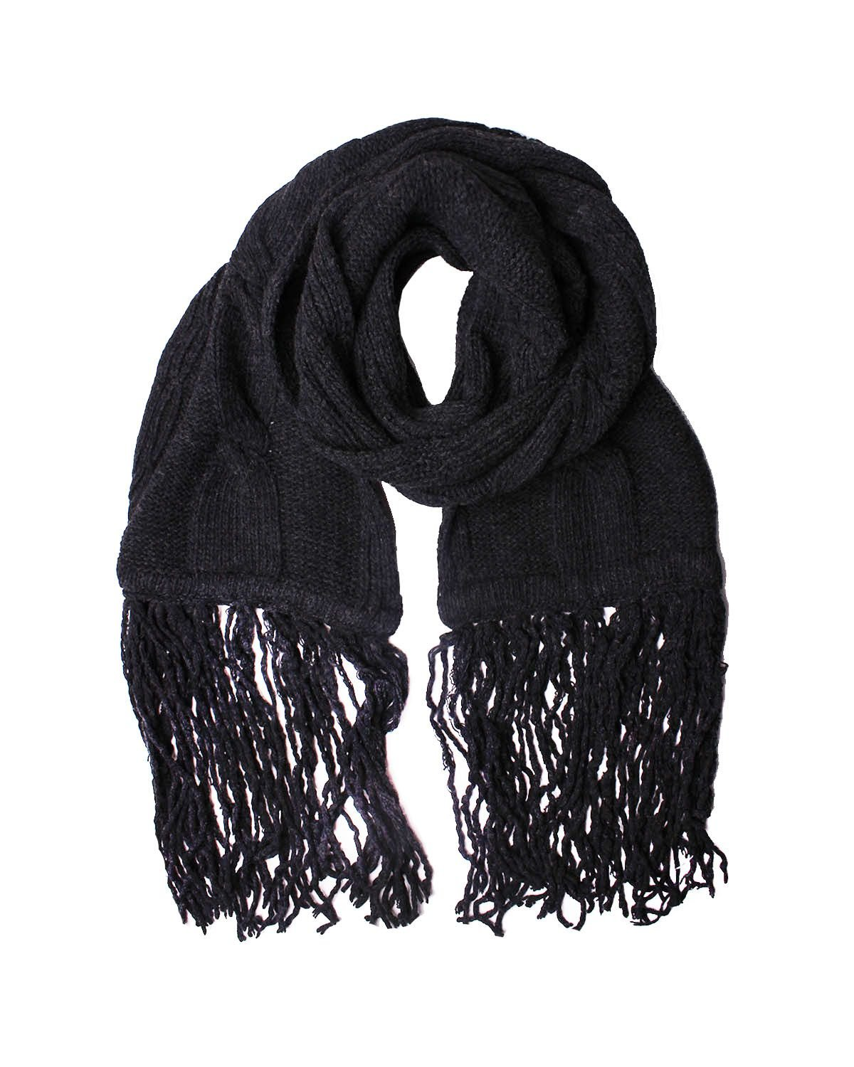 DIESEL BLACK GOLD - Wool and Cashmere Scarf 81x10 in / 205x25 cm SCIATREC - gray, One size by Diesel