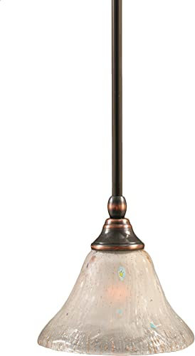 Toltec Lighting 23-BC-751 Stem Mini-Pendant Light Black Copper Finish