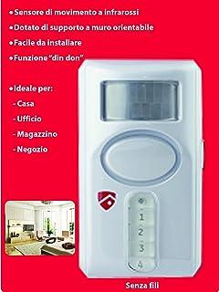 Alarma con detector de movimiento y sirena integrada