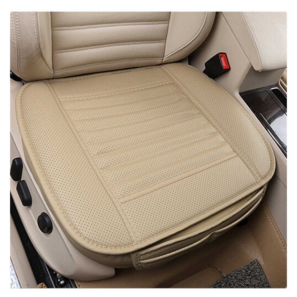 Car Seat Cover, EverFablous 1 PCS PU Leather Bamboo Charcoal Breathable Comfortable Car Seat Cushion Pad Mat Full Cover…