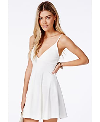 Womens Herta White Strappy Skater Dress - White - 10  Amazon.co.uk ... f610196bb