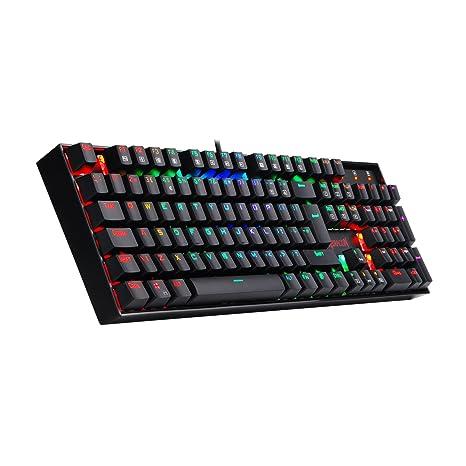 Redragon K551-RGB-UK Vara Teclado Mecánico RGB Teclado de Juego Retroiluminado 104 Teclado