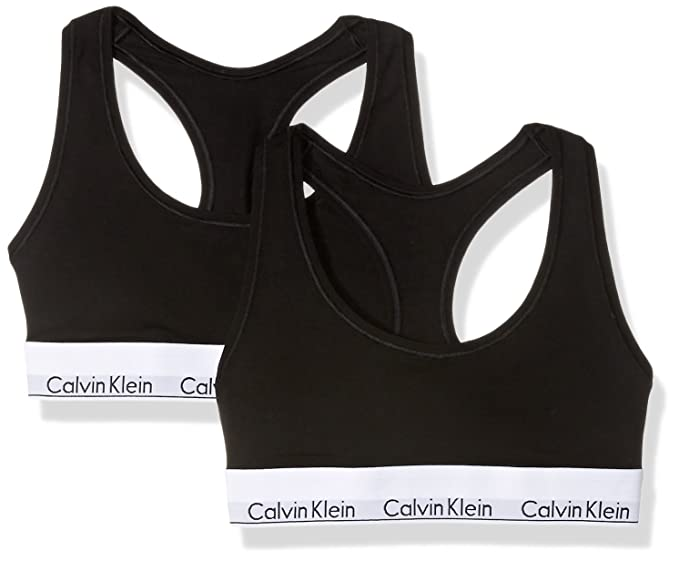 7cf52e4ea4 Calvin Klein Womens Standard Modern Cotton 2 Pack Bralette  Amazon.ca   Clothing   Accessories