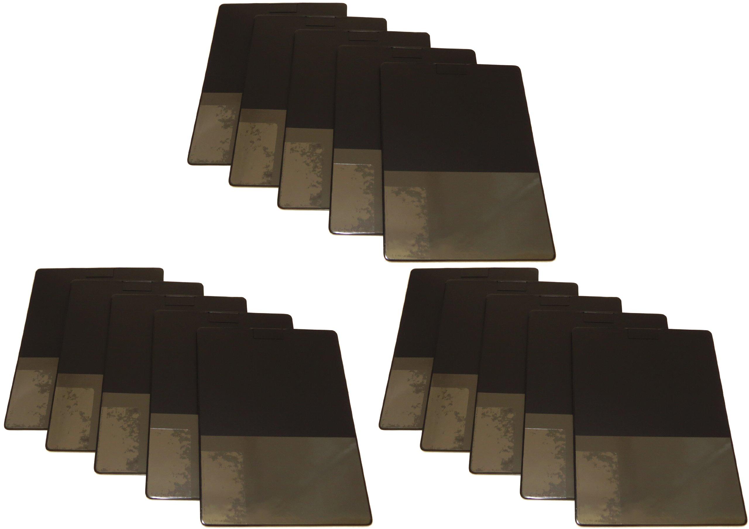 Lapboard Pocket Board Document Holder - Package of 15 (Black)