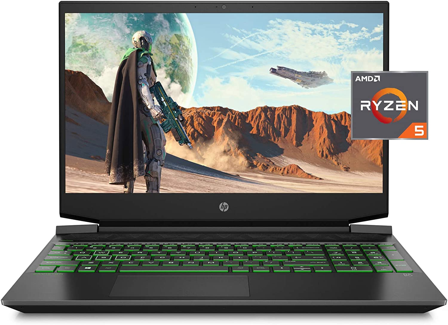 "HP Pavilion Gaming 15 Laptop, NVIDIA GeForce GTX 1650, AMD Ryzen 5 4600H, 8GB DDR4 RAM, 512 GB PCIe NVMe SSD, 15.6"" Full HD, Windows 10 Home, Backlit Keyboard (15-ec1010nr, 2020 Model)"