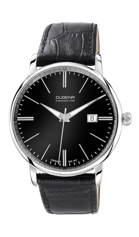 Dugena Premium Festa 7000180 - Reloj analógico de cuarzo para hombre, correa de cuero color negro
