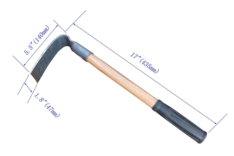 Dechsel Mini-Hacke 43 cm Hackwerkzeug Geschmiedete Hacke von FITOOL