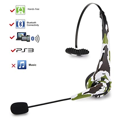 183c15f931c kiwitatá Wireless Bluetooth Headset Headphone Over the Head For Sony  Playstation 3 PS3 Gaming Headset With Mic Microphone: Amazon.ca: Electronics