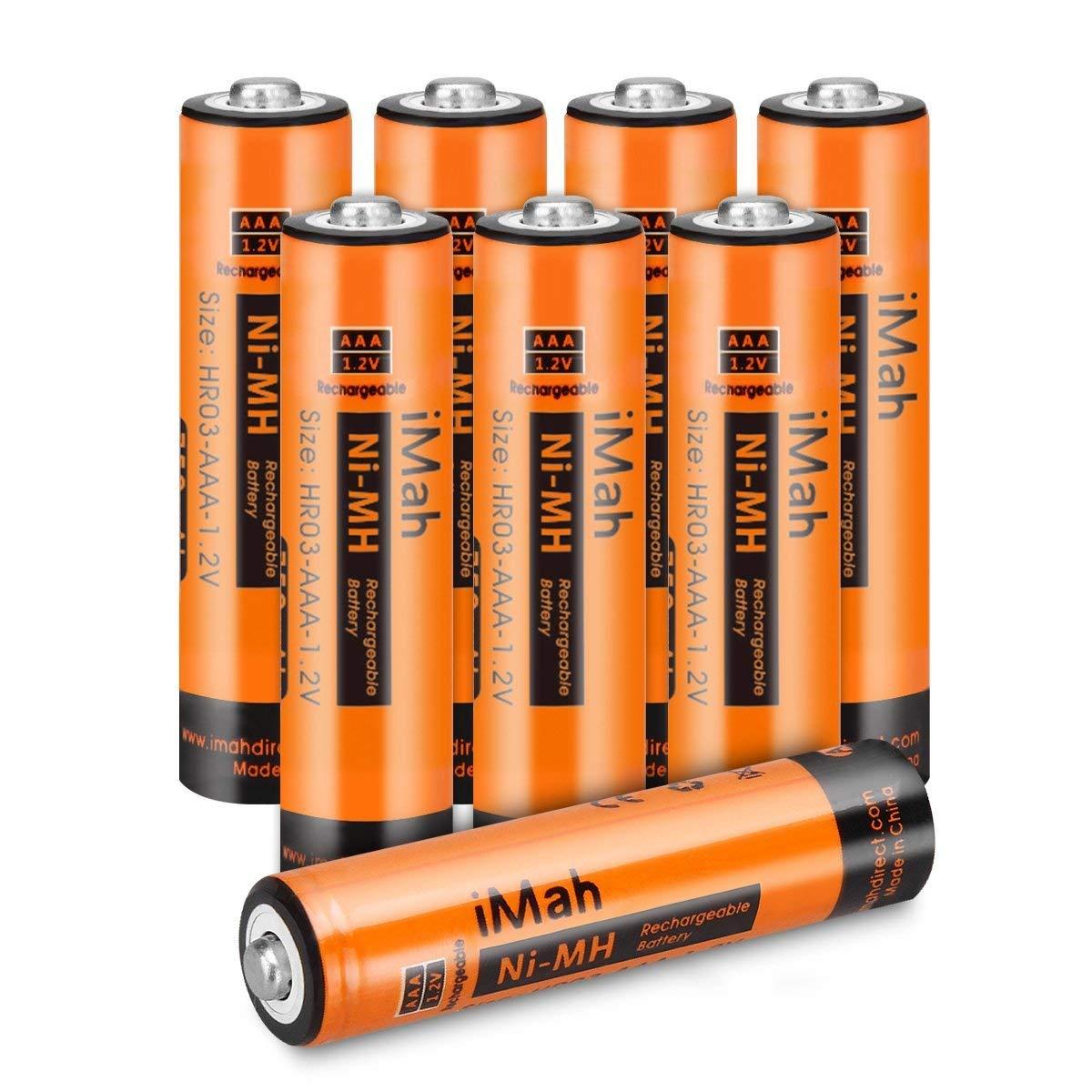 Pack De 8 Baterias Recargables Aaa 550 Mah, Imah