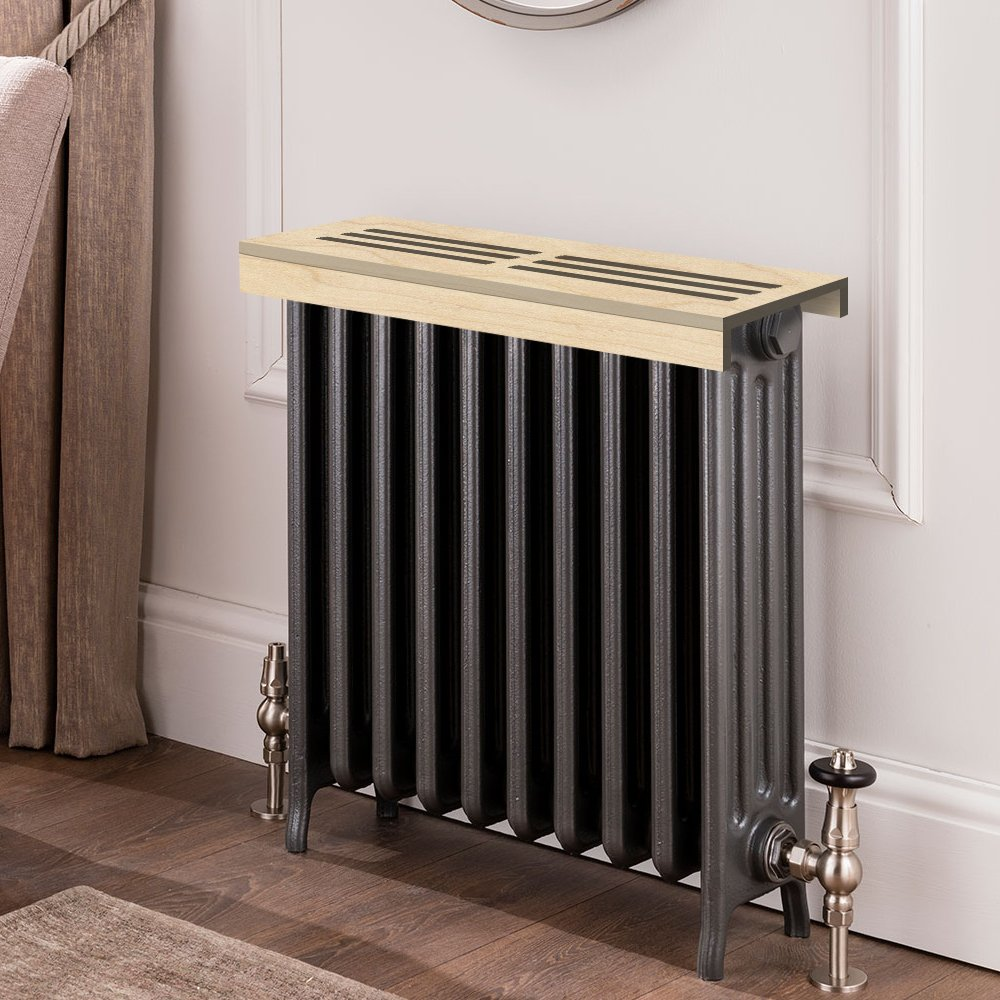 Unfinished maple Wooden Radiator Cover Shelf, 40'' Width x 11'' Length x 3'' Height