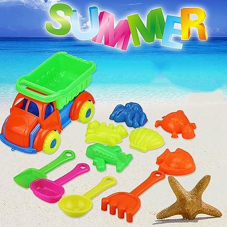 11 Piezas de Juguetes de Arena de Playa, Kit de Herramientas Modelo de Verano al