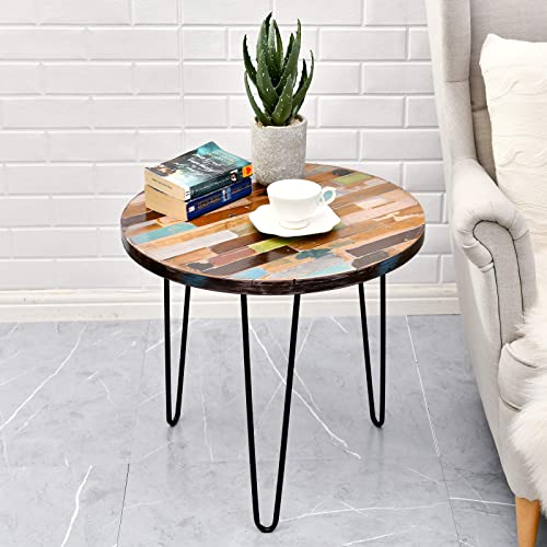 WELLAND Side Table Reclaimed Wood - a good cheap living room table