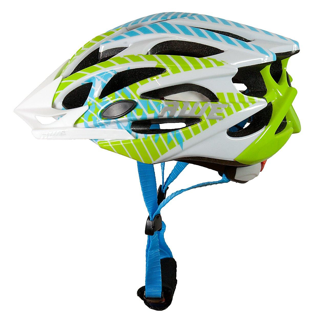 AWE® FunTM Infantiles de bicicleta casco - Verde, blanco, azul, tamaño 52-56cm: Amazon.es: Deportes y aire libre