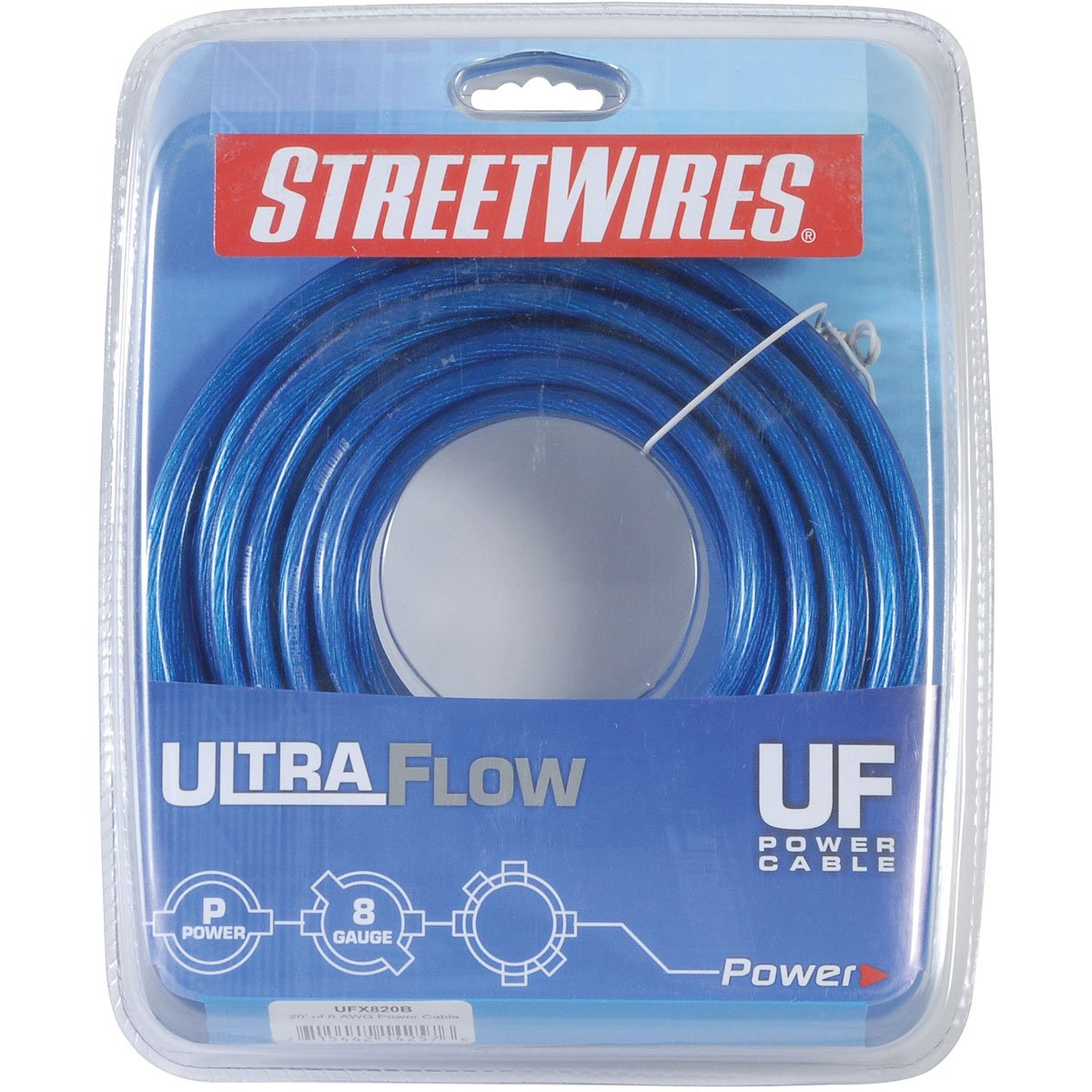 NEW Streetwires UFX820B 8 Gauge Power Cable/Wire 20 Ft