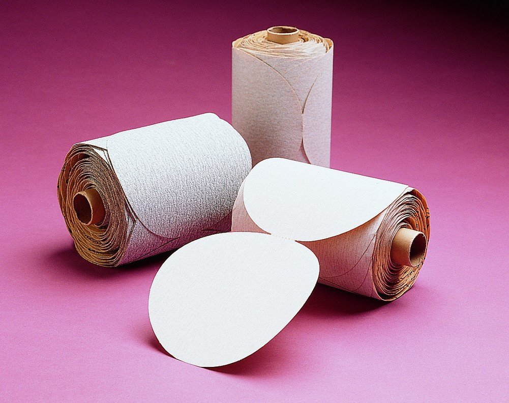 3M NX PSA Paper Disc Roll, Aluminum Oxide, 6'' Diameter, P800 Grit (Roll of 100)