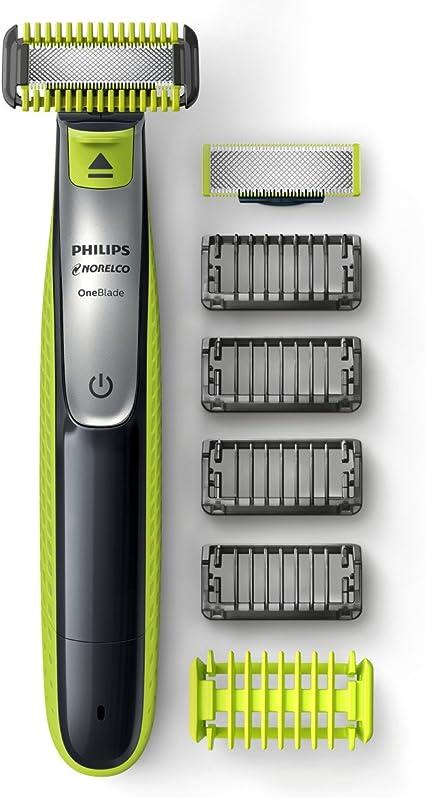 Philips Norelco QP2630/70 Philips Norelco OneBlade cara, Cara OneBlade + cuerpo, OneBlade Face & Body, Negro, verde, plateado, 1 uds. por paquete, ]: Amazon.es: Salud y cuidado personal