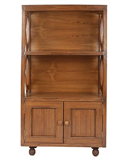Attirant VarEesha Teak Wood Display Unit Cum Book Shelf  Display Table/ Showpiece  Sable/ Mini