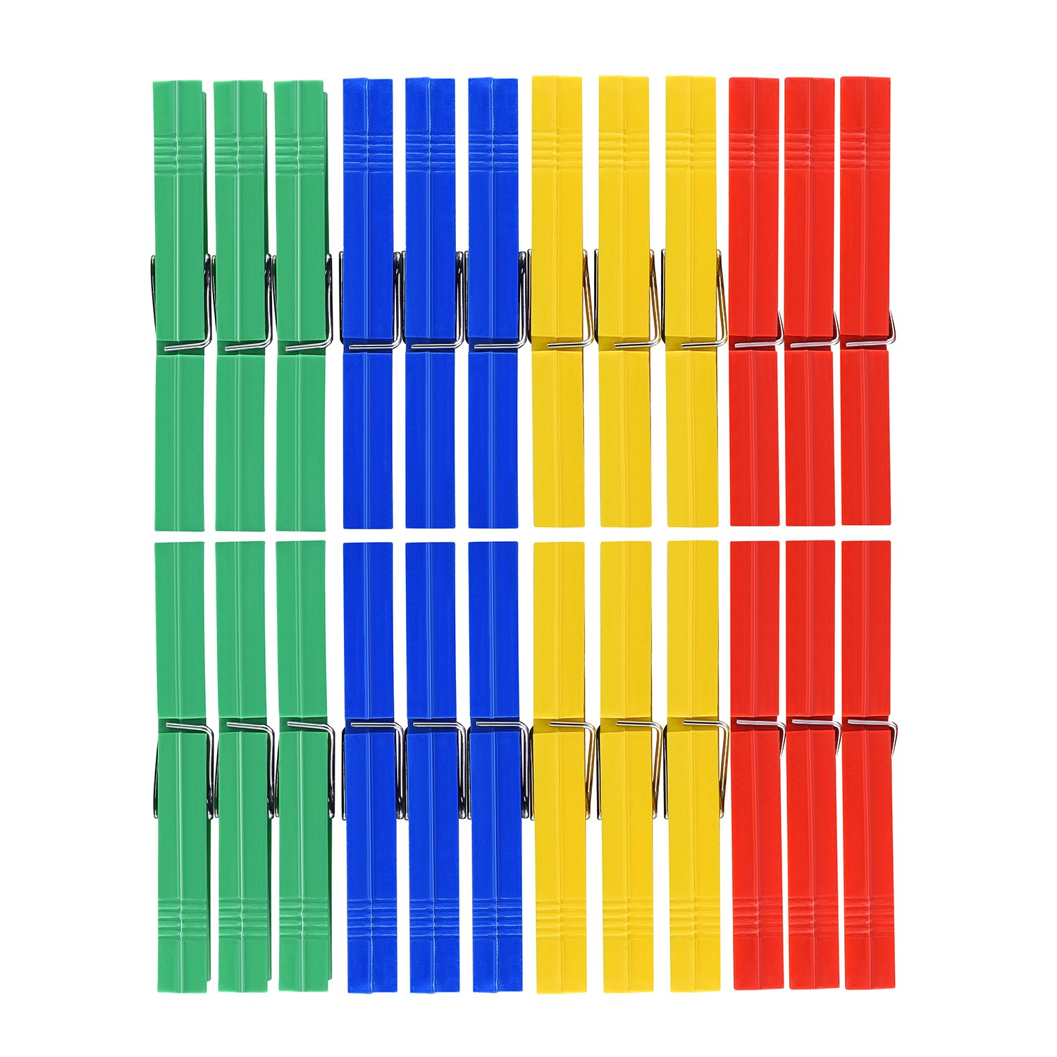 TtoyouU Colored Plastic Clothespins Clothes Pins Clips Pegs 48pcs Assorted Colors(Green/Dark Blue/Yellow/Red)