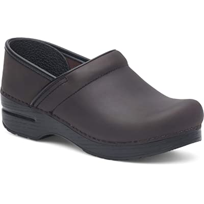 Dansko Men's Professional Antique Brown/Blk Clog 12.5-13 M US: Shoes