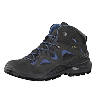 Lowa Bora GTX QC Women Größe UK 8,5 anthrazit/blau