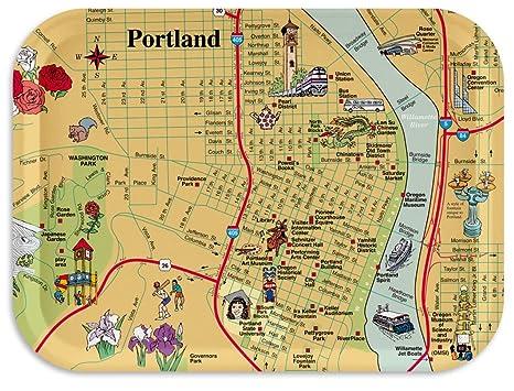 Amazon.com | Trays4Us Portland Oregon Map 11x8 inches (Medium ... on