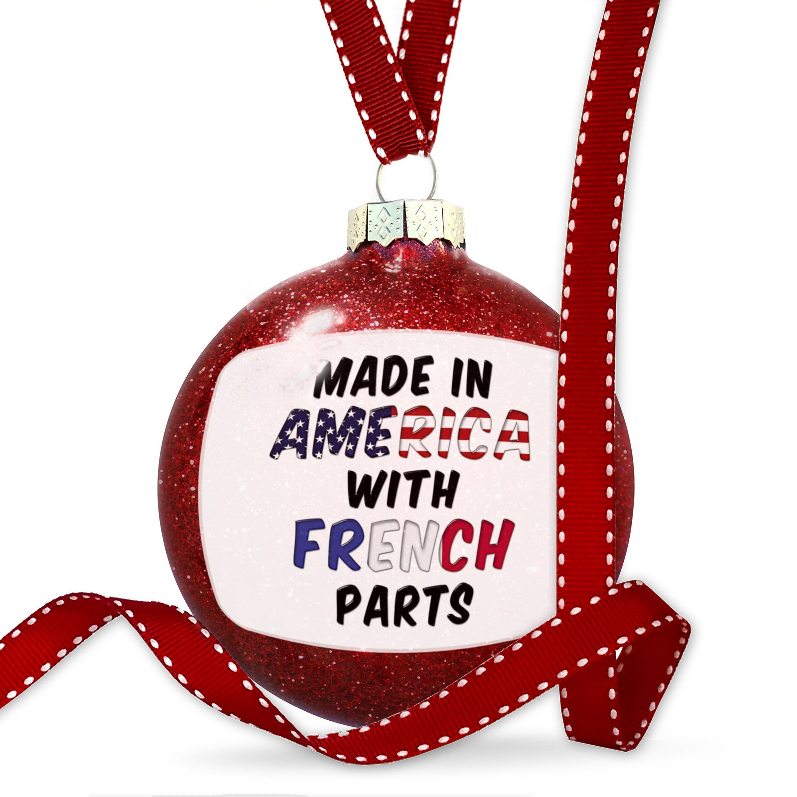 Christmas Decoration Made in America with Parts from French Ornament