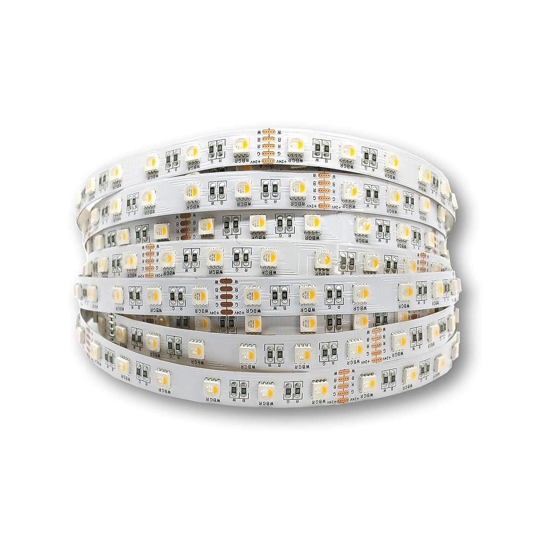 Alupona LED Streifen 19.2W m 24V 60leds m CRI80 RGBW 3000K IP20 Stripe Band Stripes Strip Farbe 2 Meter (200cm)
