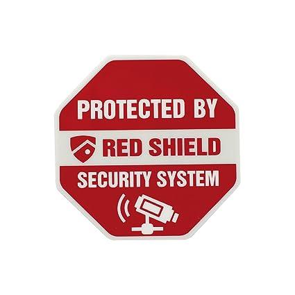 Red Shield Ws 114 Security Window Decals Sticker Automotive Decals