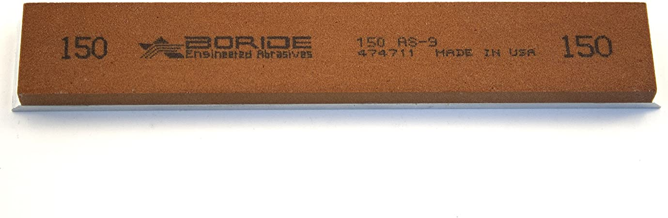Gritomatic Aluminum Oxide 6 x 1 x 0.25 Sharpening Stone with Aluminum Mounting for Edge Pro 240 grit
