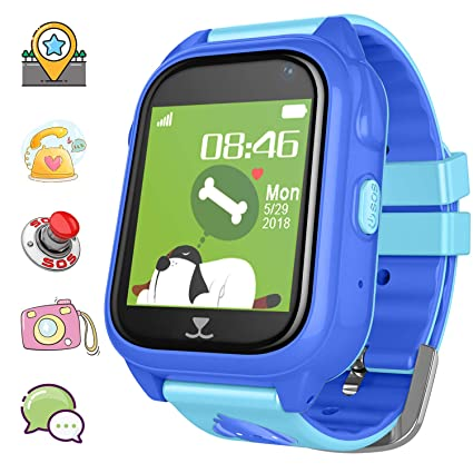 Kids Smartwatch Waterproof GPS/LBS Tracker Phone for Children 3-12 Girls Boys Smart Watch for Kids SOS Call Pedometer Camera Two Way Call Games ...
