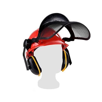 Casco de protección forestal HPDe con protector auditivo ...