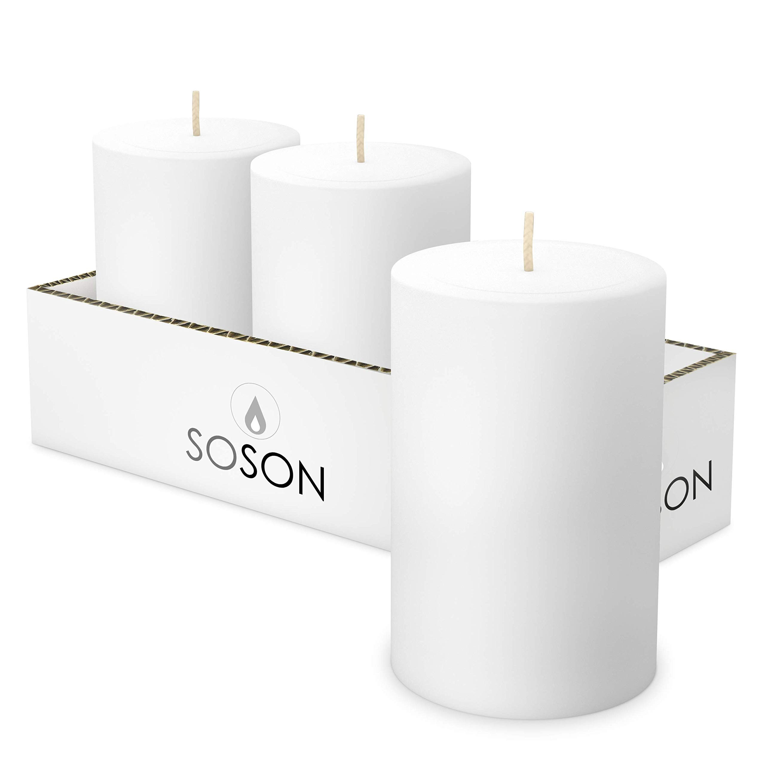 Simply Soson Smooth (3x4 (3 Pack), White)