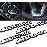 Deselen - LP-BS17S - 4 PCS Small Interior Decoration Metal Emblem Sticker for Mercedes Benz AMG Class C E ML/GLA/GLC