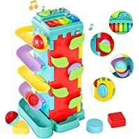 INSOON 4 in 1 Activity Cube Toys Toddler Toys for 1 2 3 4 Years Old Girls Boys Race Ball Ramp Track Toy Preschool…