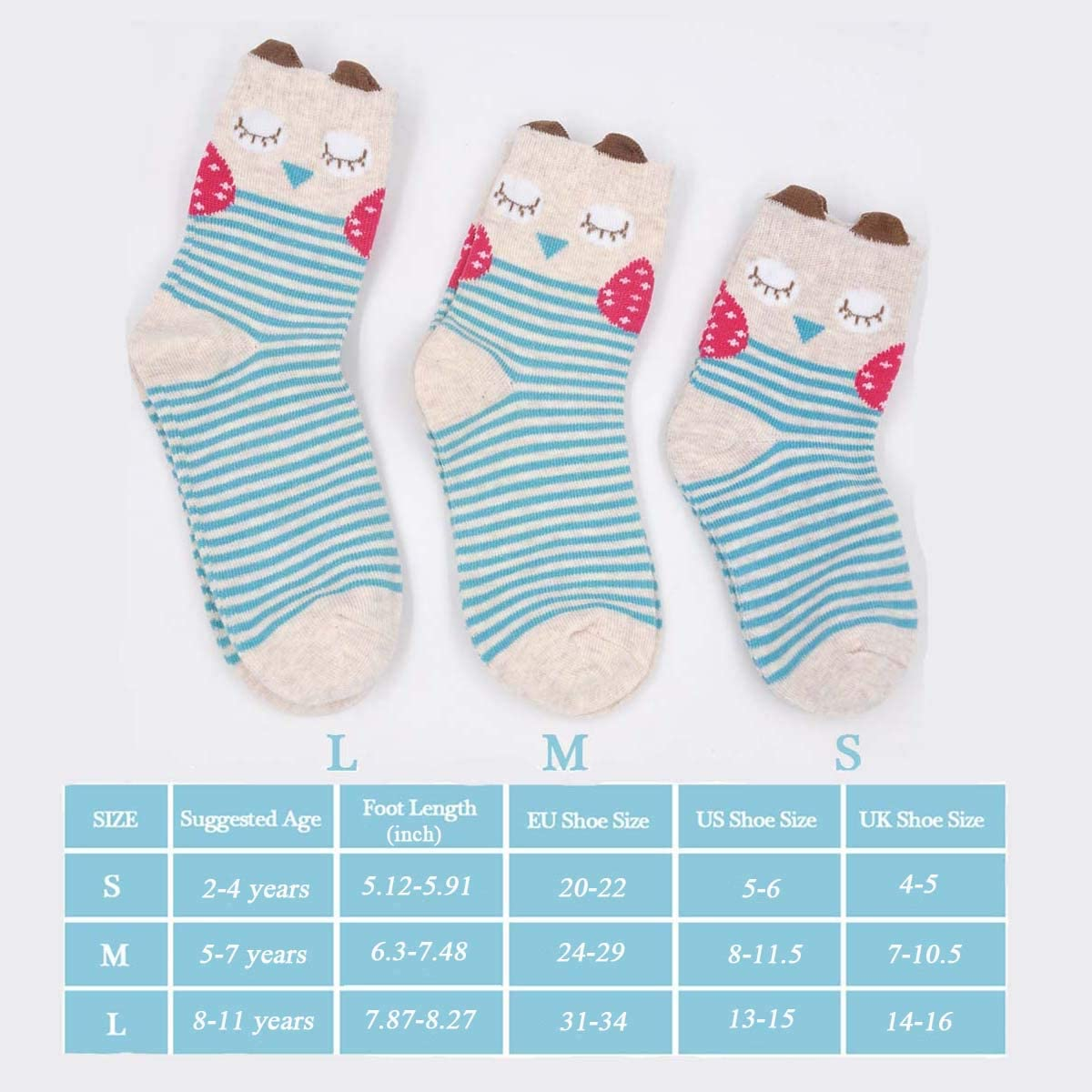 Girls Cotton Ankle Socks Kids Toddler Infant Girls Anti-slip Novelty Cute Cat Animal Funny Socks 5 Pairs