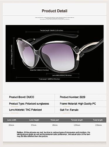 f337ae2232 DUCO Women s Stylish Polarised Sunglasses Star Glasses 100% UV Protection  2229 (Gradient Purple)  Amazon.co.uk  Clothing