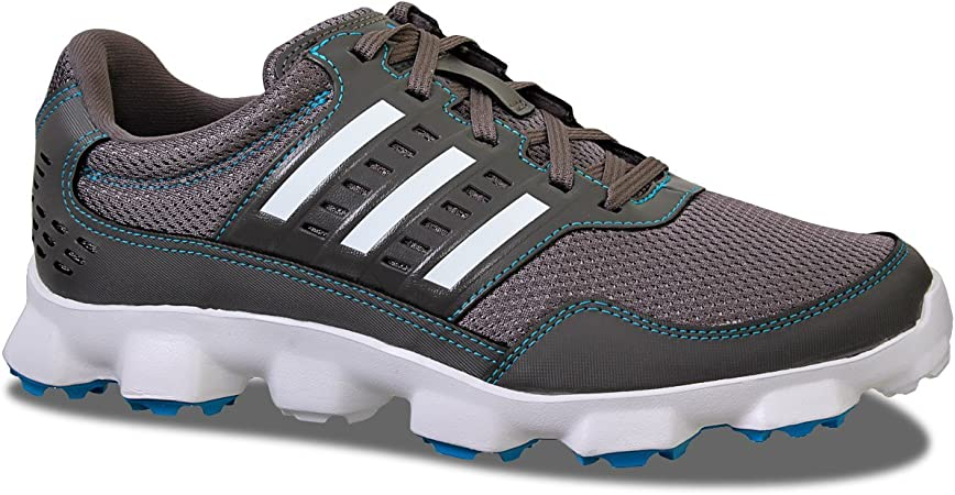 adidas 2015 Crossflex Sport Mens Spikeless Golf Shoes Iron/White 8.5UK