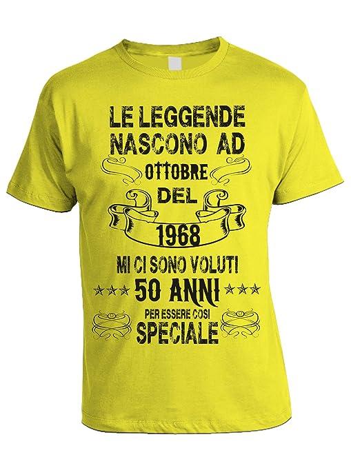 Compleanno Le Ad Ci Ottobre Nascono 1968Mi Tshirt Leggende Del 0Ov8mNnw
