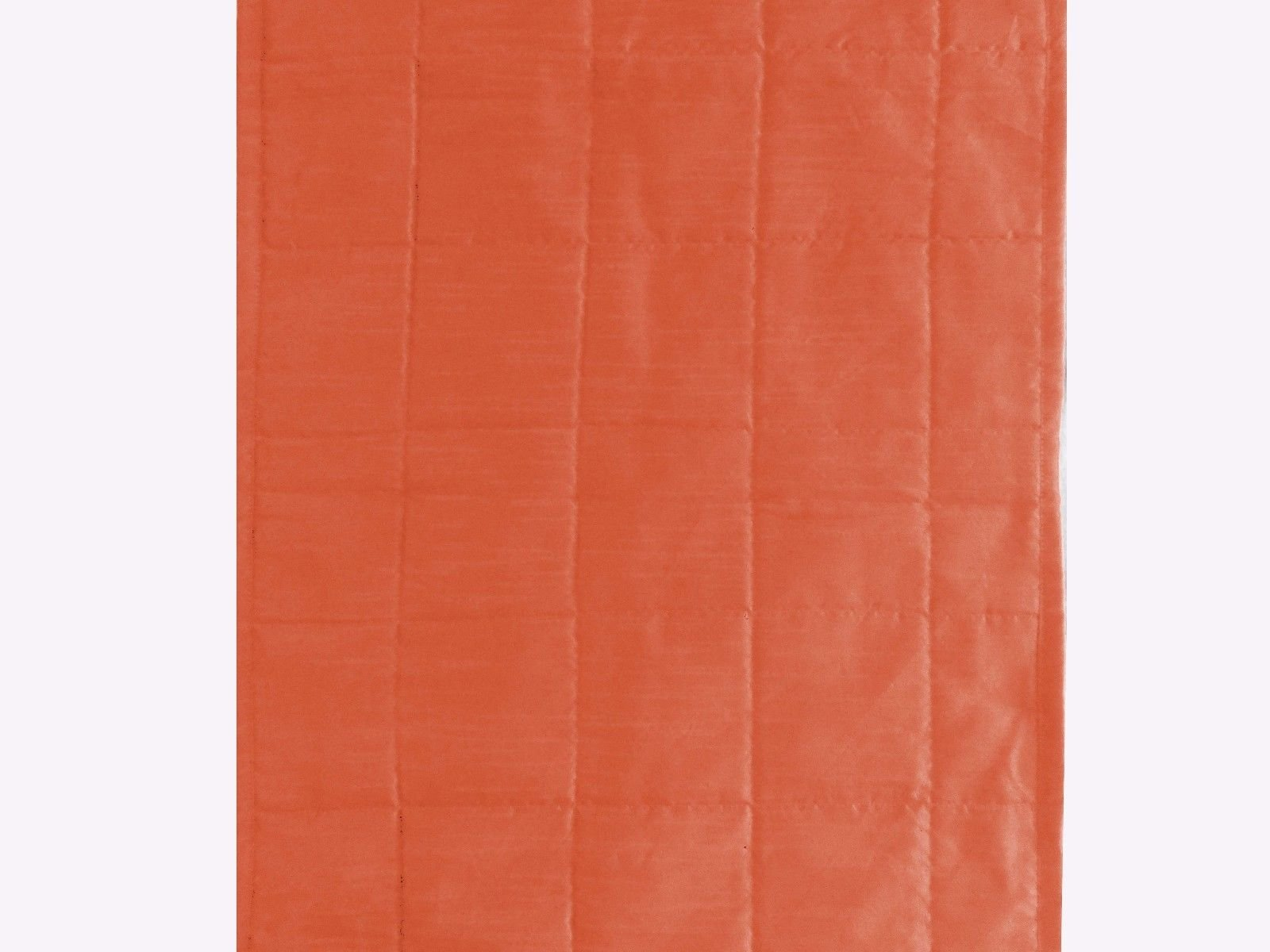 Quilted Bed Runner - Coral Orange Bed Scarf Long Side Runner Throw King/Queen/Twin Size with Decorative Cushion Cover Polyester 20'' Wide X 86'' Long (50 cm x 218 cm) by Saffron