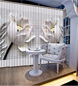 Amazon Com Wapel European Style Large 3d Curtains Two Lotus Design