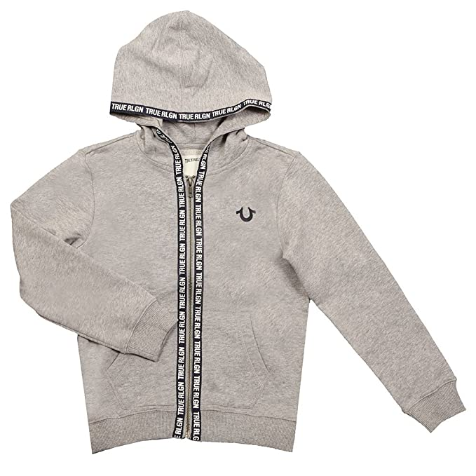 99bf2bbbd True Religion Kids Baby Boy s Tape Hoodie (Toddler Little Kids) Heather  Grey Sweatshirt  Amazon.ca  Clothing   Accessories